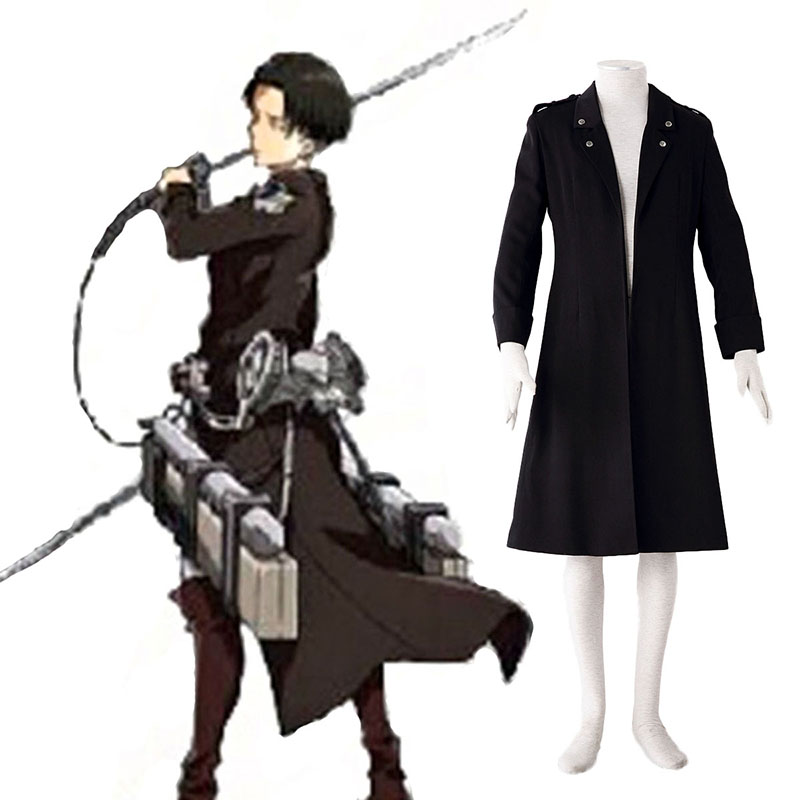 Attack on Titan Levi Black Cosplay Costumes UK