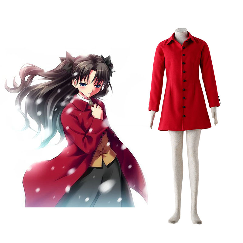 The Holy Grail War Tohsaka Rin 4 Red Cosplay Costumes UK