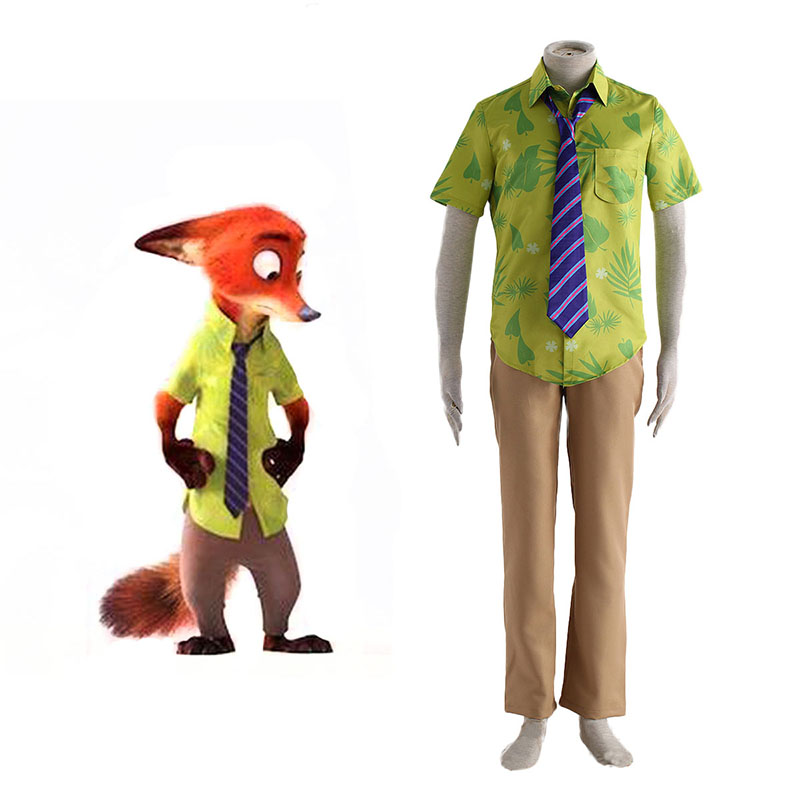 Zootopia Nick Normal Cosplay Costumes UK