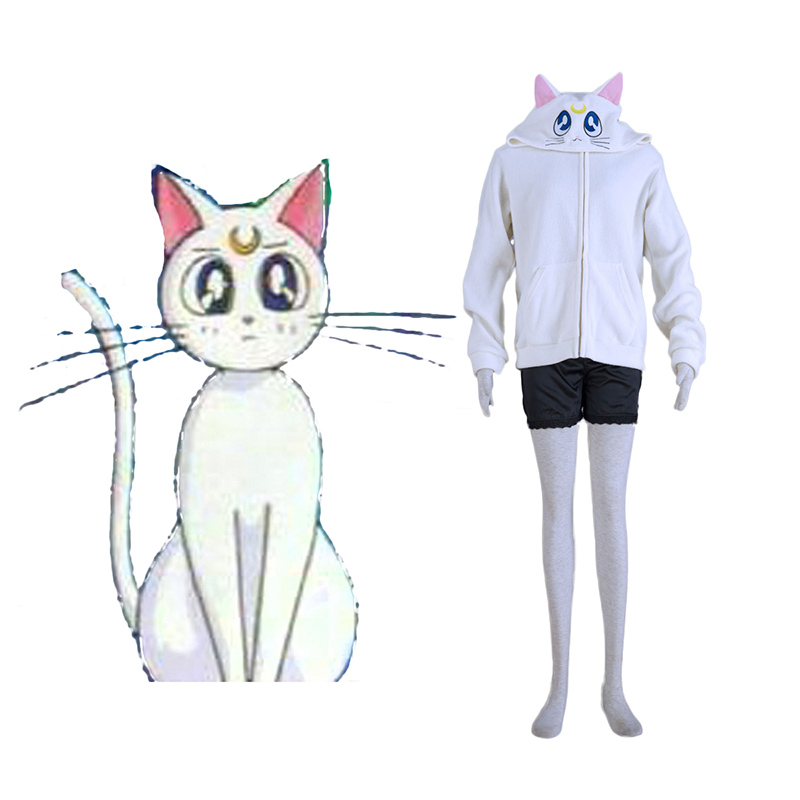Sailor Moon White Cat Artemis Cosplay Costumes UK