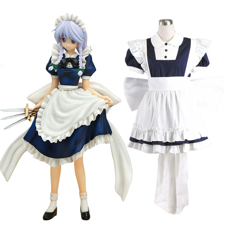 Touhou Project Izayoi Sakuya Cosplay Costumes UK