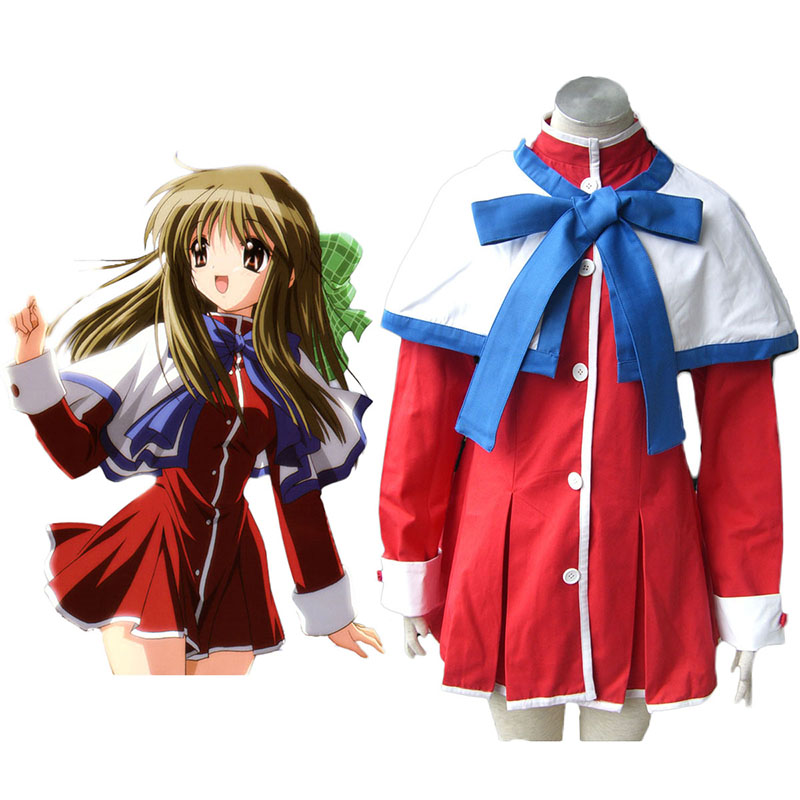 Kanon High School Uniforms Blue Ribbon Cosplay Costumes UK