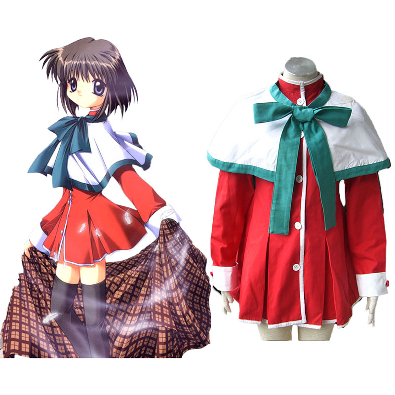 Kanon High School Uniforms Green Ribbon Cosplay Costumes UK