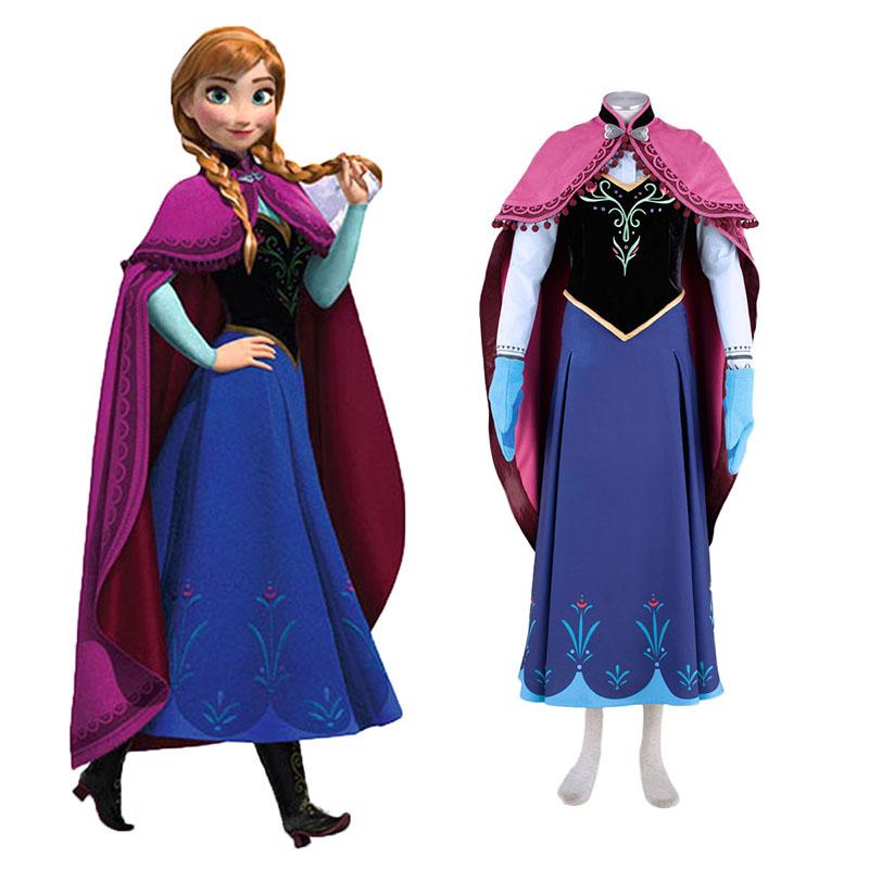 Frozen Anna 1 Cosplay Costumes UK