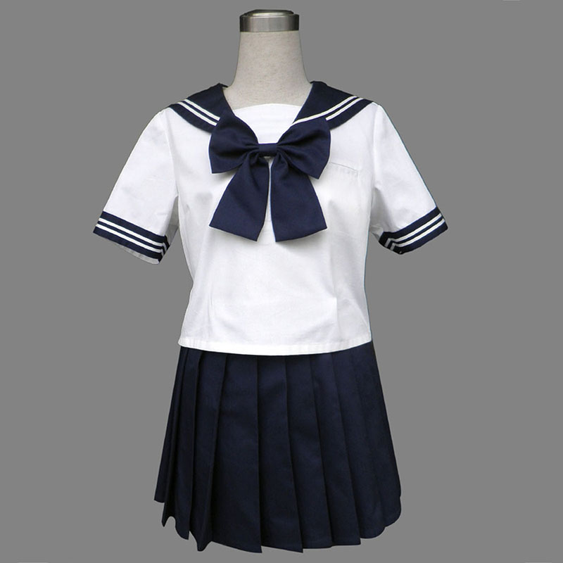 Royal Blue Short Sleeves Sailor Uniform 8 Cosplay Costumes UK