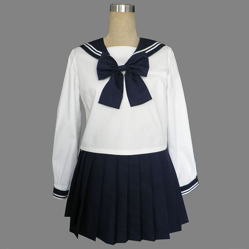 Long Sleeves Sailor Uniform 9 Cosplay Costumes UK