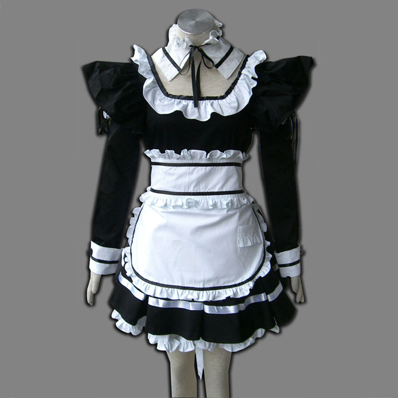 Black Maid Uniform 1 Cosplay Costumes UK