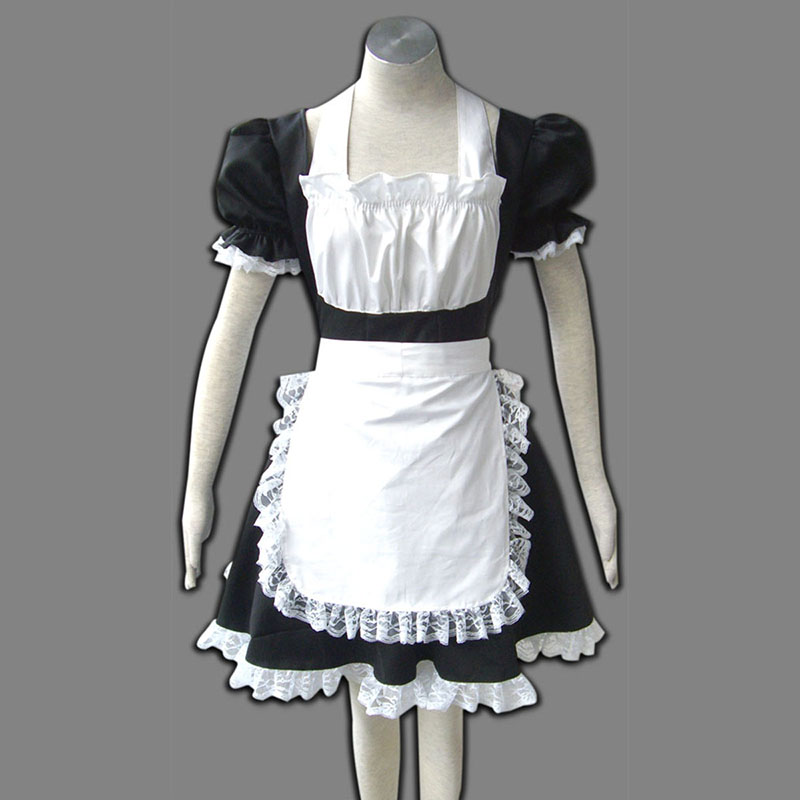 Maid Uniform 2 Black Winged Angle Cosplay Costumes UK
