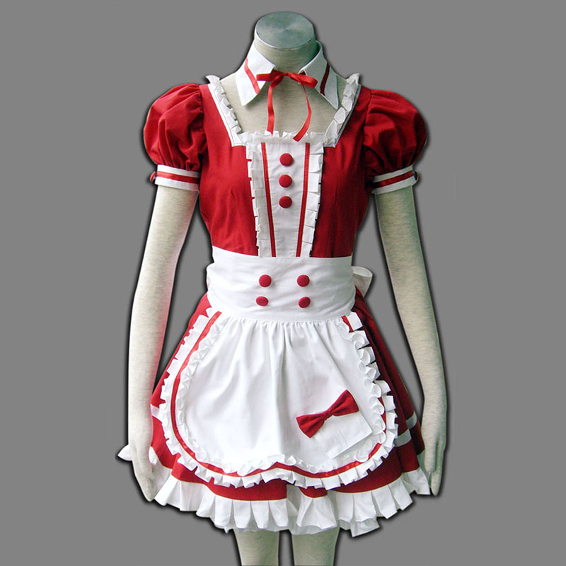 Red Maid Uniform 6 Cosplay Costumes UK