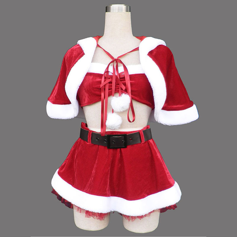 Red Christmas Lady Dress 5 Cosplay Costumes UK