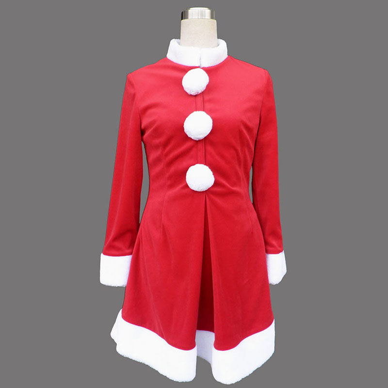 Red Christmas Lady Dress 6 Cosplay Costumes UK