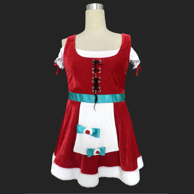 Christmas Lady Dress 8 Cosplay Costumes UK