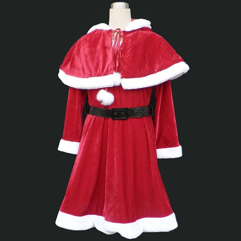 Christmas Lady Dress 9 Red Cosplay Costumes UK