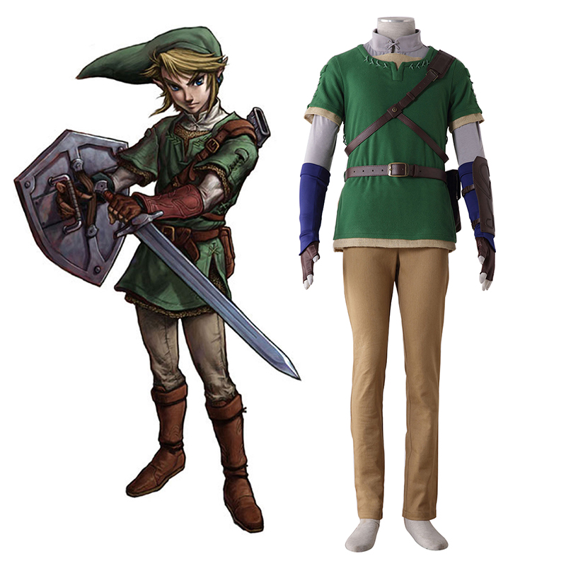 The Legend of Zelda Twilight Princess Link 4 Cosplay Costumes UK