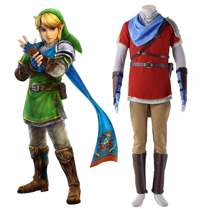 The Legend of Zelda Hyrule-Warriors Link 6 Red Cosplay Costumes UK