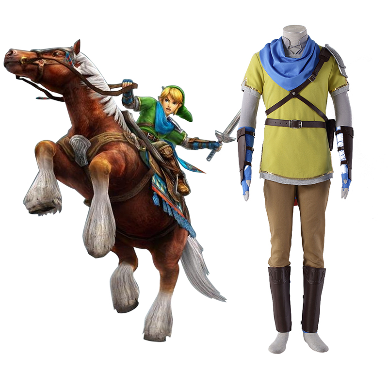 The Legend of Zelda Hyrule-Warriors Link 7 Yellow Cosplay Costumes UK