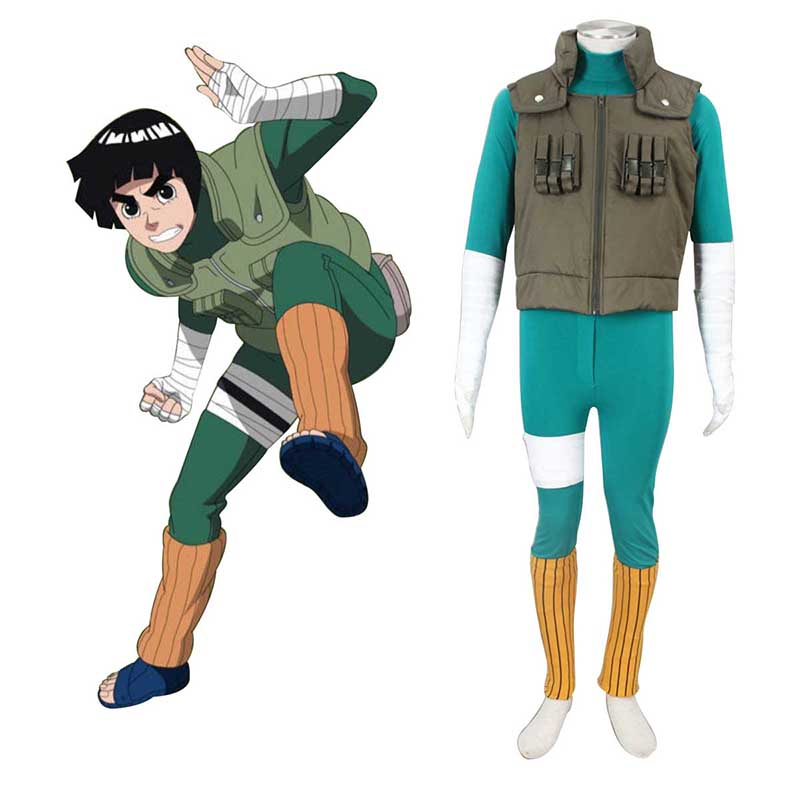 Naruto Shippuden Rock Lee 2 Cosplay Costumes UK
