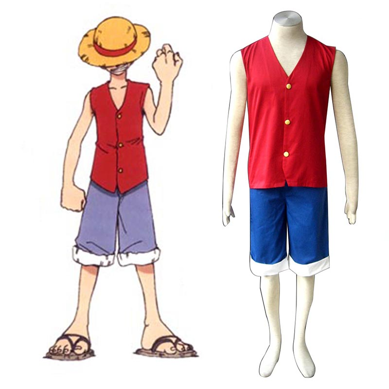 One Piece Monkey D. Luffy 1 Red Cosplay Costumes UK