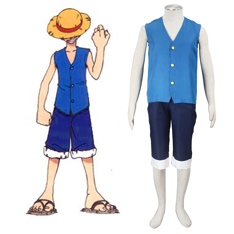 One Piece Monkey D. Luffy 2 Blue Cosplay Costumes UK