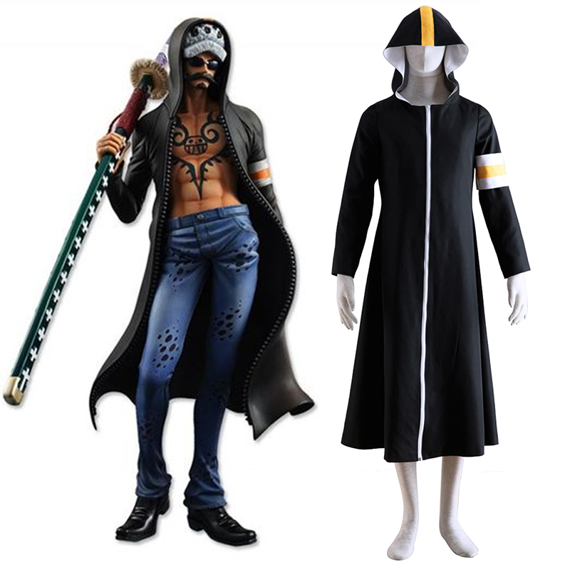 One Piece Surgeon of Death Trafalgar Law 1 Cosplay Costumes UK