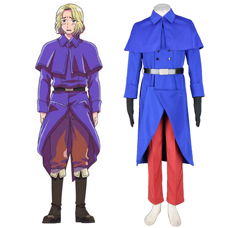 Axis Powers Hetalia France Francis Bonnefeuille 1 Cosplay Costumes UK