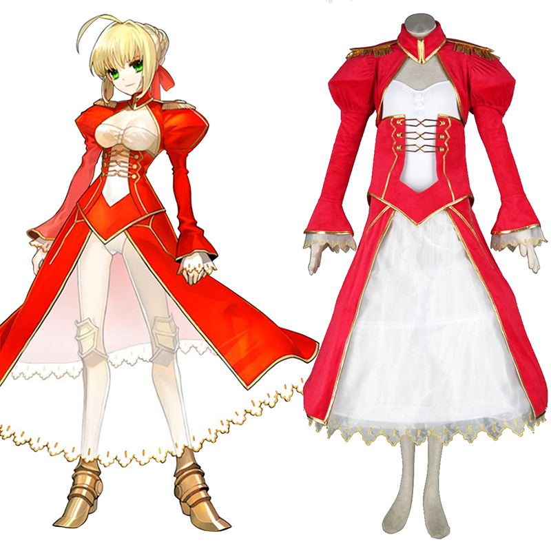 The Holy Grail War Saber 2 Red Cosplay Costumes UK