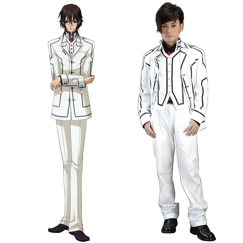 Vampire Knight Night Class White Male School Uniform Cosplay Costumes UK