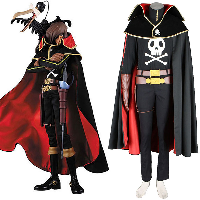 Galaxy Express 999 Captain Harlock Cosplay Costumes UK