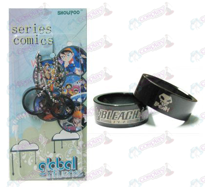 Bleach Accessories proxy card fitted black steel couple rings