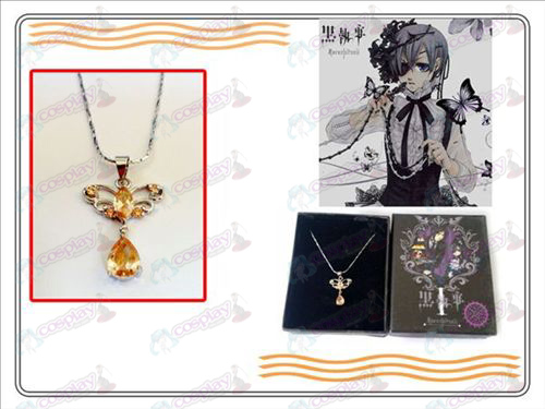 Black Butler Accessories new disc pendant necklace (champagne)
