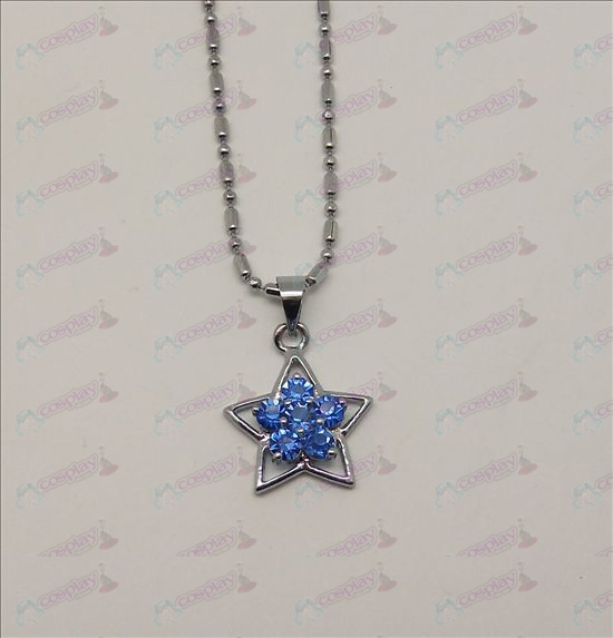 Blister diamond necklace (purple)