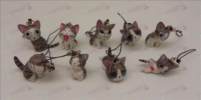 9 Sweet Cat Accessories Machine Strap (Grey)