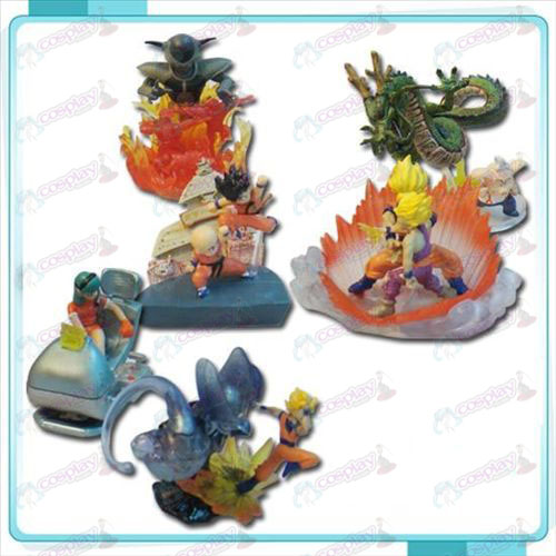 Genuine 6 Dragon Ball Accessories assembled doll
