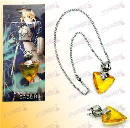 Steins; Gate Accessories golden necklace pink