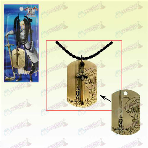 Steins; Gate Accessories Square Tag Necklace