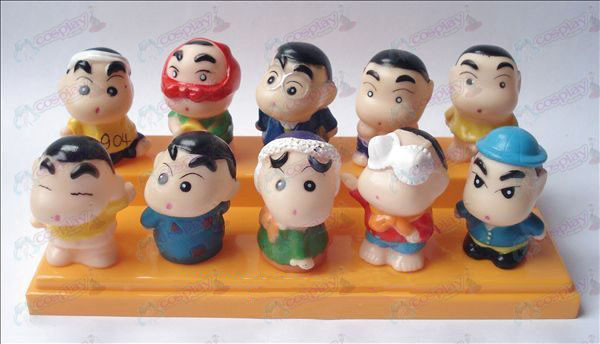 10 Crayon Shin-chan Accessories pond plastic doll