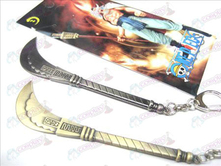 One Piece Accessories white beard knife buckle