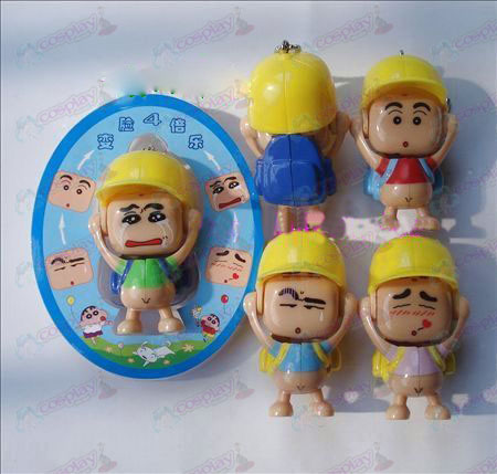 Crayon Shin-chan Accessories face doll ornaments (a) in green