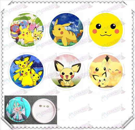 6 mounted 75MM light film badge-Pokemon Accessories