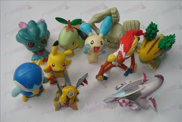 Genuine 10 Pokemon Accessories Doll (7-9cm)