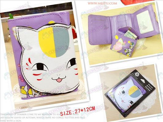 Natsume's Book of Friends Accessories Cat teacher bulk wallet (eyes open)