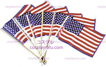 Flag Us Plastic 4In X6 In 72=1