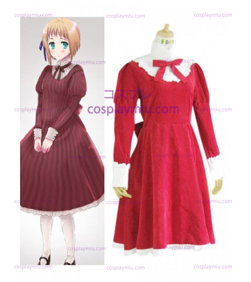 Axis Powers Liechtenstein Red Cosplay Costume