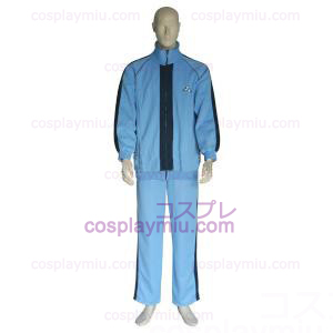 The Prince Of Tennis Jyousei Shounan Light Blue and Black Cosplay Costume