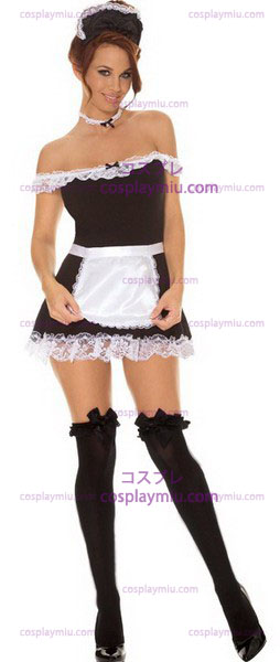 4 PC French Maid Costume