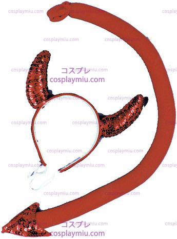 Sequin Devil Horn/Tail Set