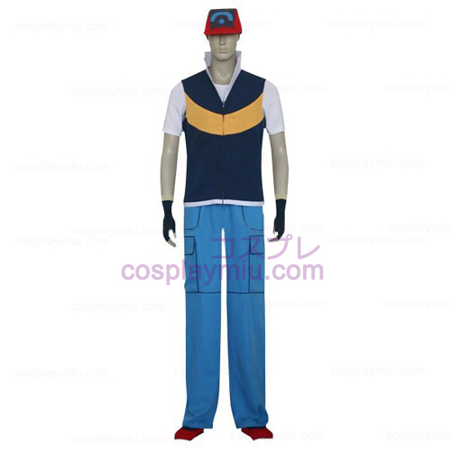 Pokemon Ash Ketchum Men Cosplay Costume