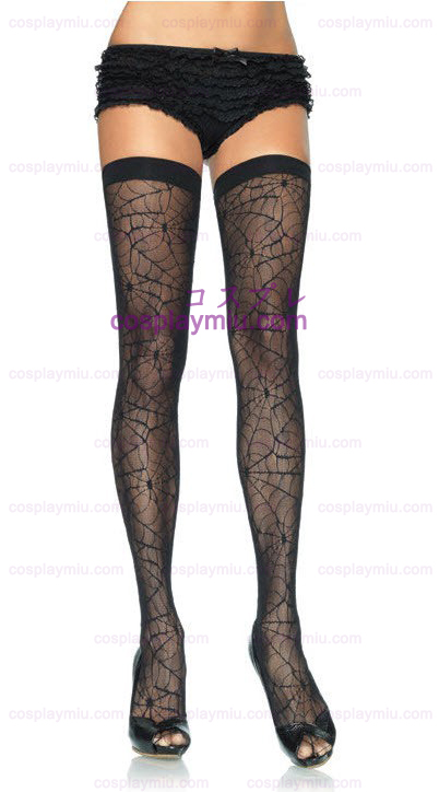 Spider Web Thigh Highs