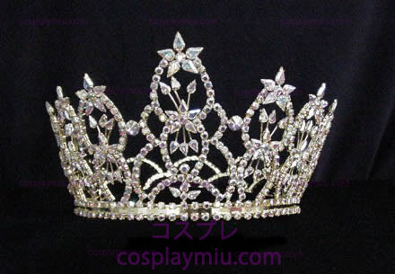 Rhinestone Crown Gold-Tone