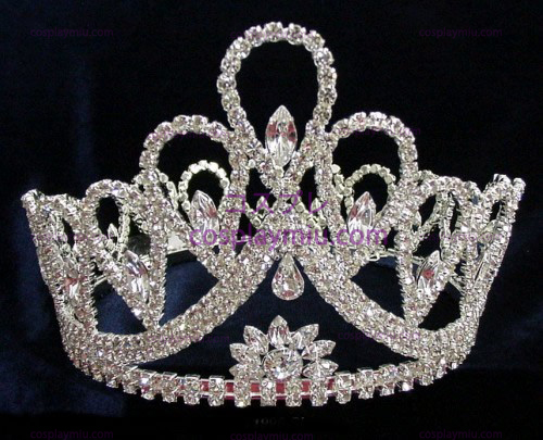 Rhinestone Crown Silver-CT001